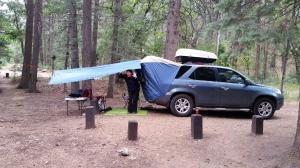 Our car camping setup
