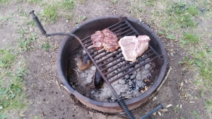 T-Bones and Fire Baked Potatoes