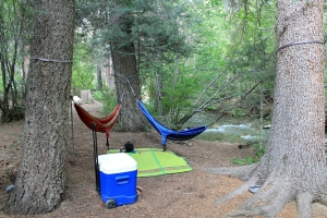 Sweet hangout area by the stream