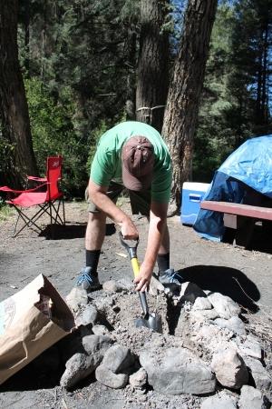 Fire pit maintenance