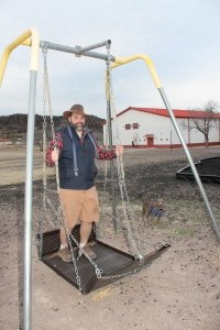 Swinging in Fort Davis