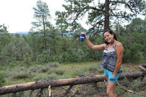 Hiking (drinking) with friends on the Fourth of July
